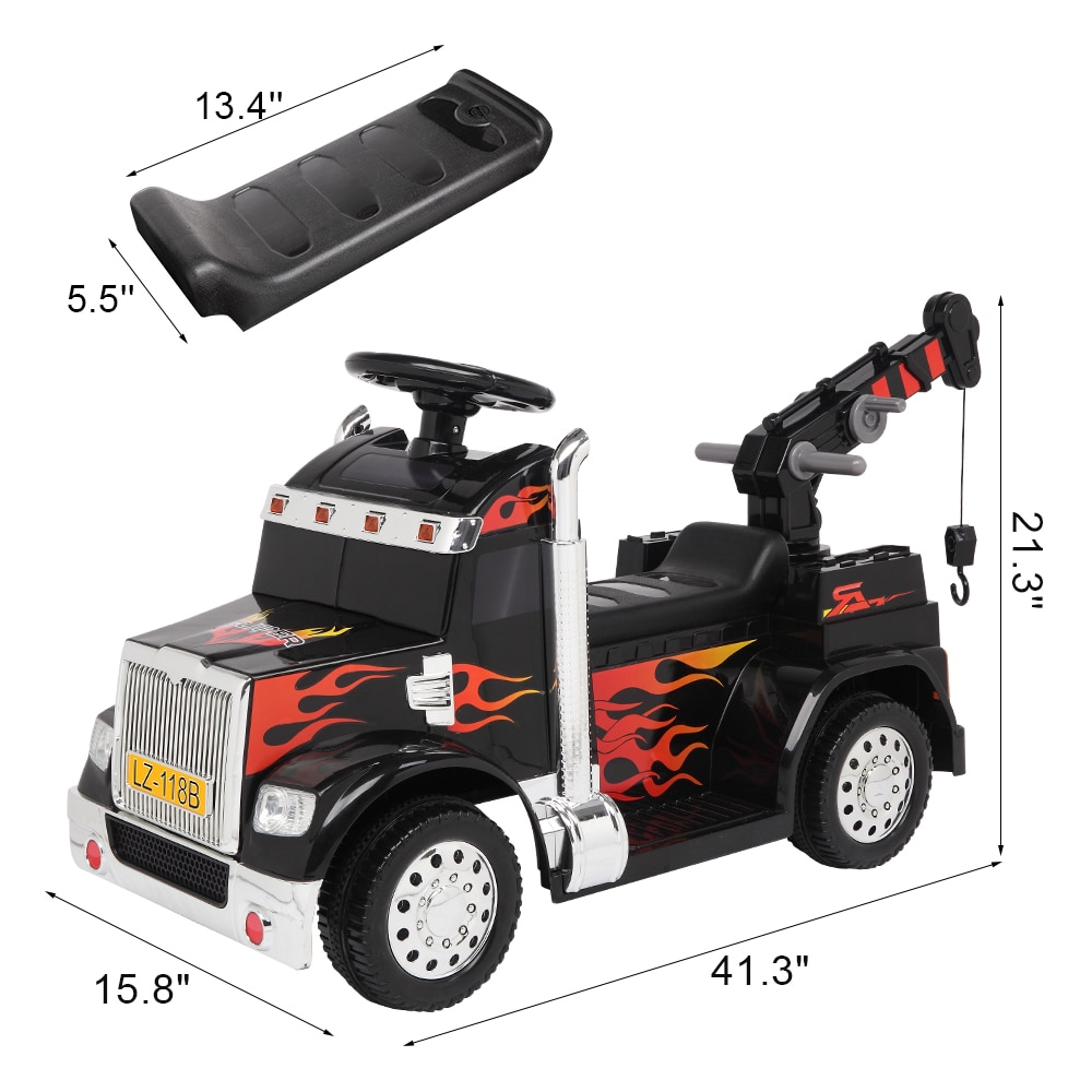 【US Warehouse】LEADZM LZ-118B grúa pequeña unidad única 6V20W batería 6V4.5AH * 1 con tablero musical de Control remoto 2,4G negro