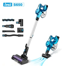 Cordless Vacuum Cleaner 250W 23Kpa Brushless High Suction Vacuum, Up to 45 Mins Max Runtime 2500mAh Rechargeable Battery