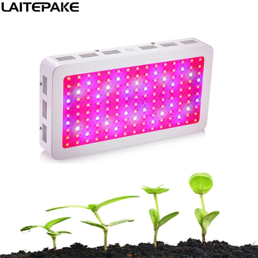 رقائق مزدوجة 1200 واط 1500 واط 1800 واط 2000 واط LED تنمو ضوء الطيف الكامل 3500 كيلو الأزرق الأصفر الأحمر UV IR ل إندور تنمو خيمة صندوق النبات تنمو