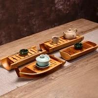 original bamboo tea tray kung fu tea set tea mat tea table dry bubble table simple and portable handmade