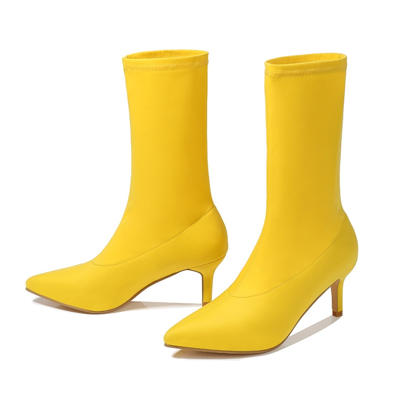 Botas de Mujer a la moda con puntera fina de gamuza Sexy...