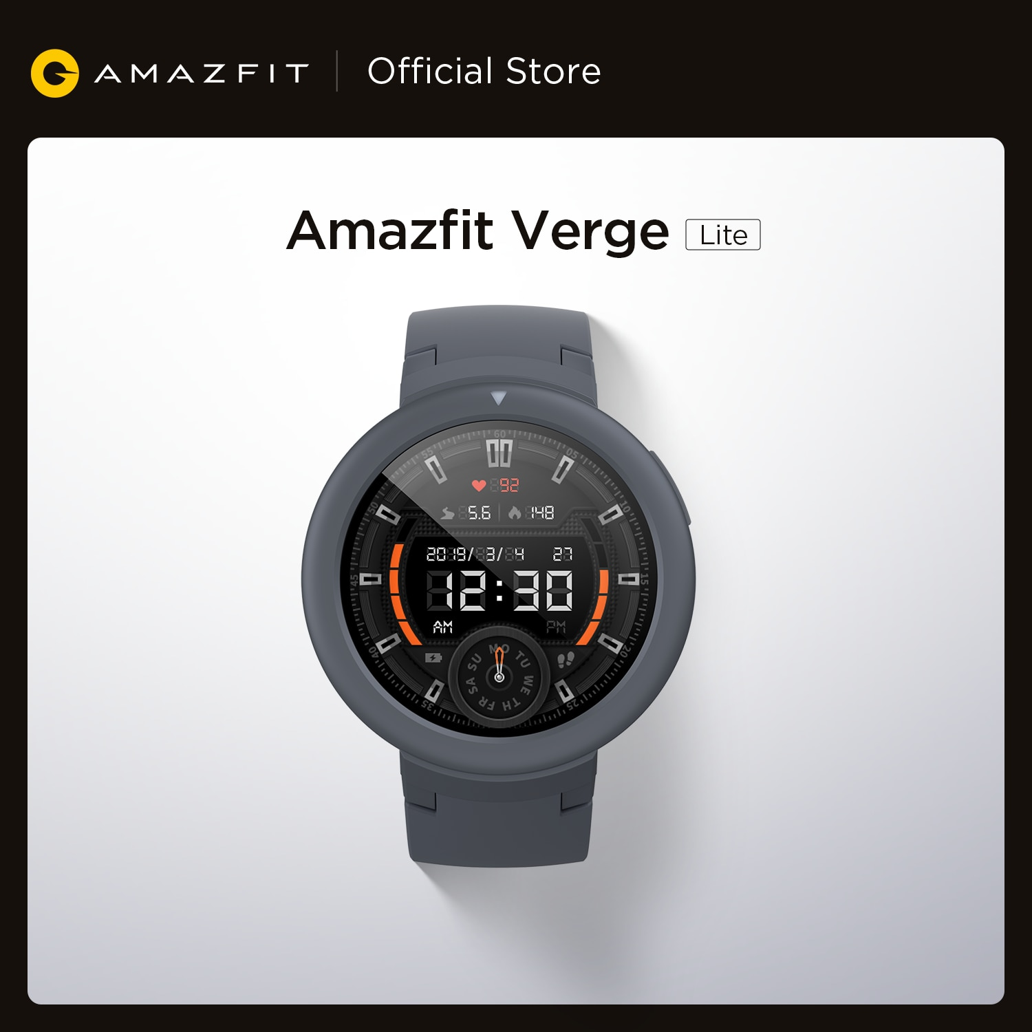Global Version New Amazfit Verge Lite Smartwatch Pedometer Watch AMOLED Sports Tracking GPS GLONASS for Android Phone iOS