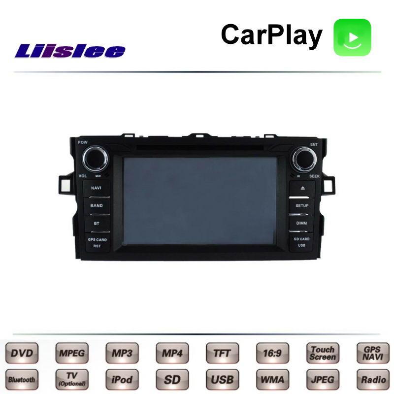 Для TOTOTA Auris E150 Corolla iM 2006 ~ 2012 Автомобильный мультимедийный ТВ DVD GPS Радио Carplay оригинальный стиль навигация Navi