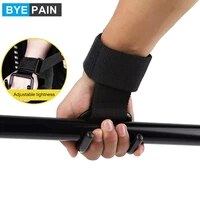 weight lifting hooks heavy duty adjustable wrist straps deadlift straps power lifting grips wrist support gym fitness men women