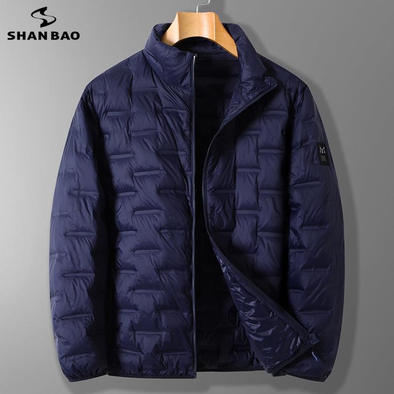 Легкая пуховая куртка 5XL 6XL 7XL 8XL 2021 весна и осень классический стиль мужская повседневная брендовая тонкая пуховая куртка с карманами на молнии