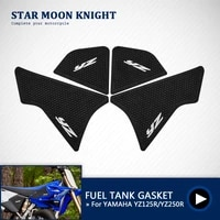 motorcycle anti slip tank pad 3m side gas knee grip traction pads protector sticker for yamaha yz 125 r yz 250 r 2 stroke 2020