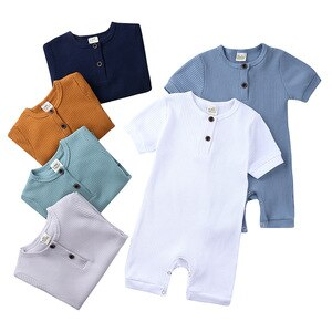 Baby jumpsuits summer short-sleeved romper outing clothes 2020 new hang strips bag fart clothes climbing clothes