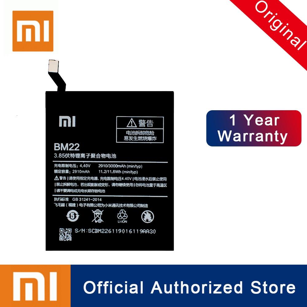 Xiao mi bm22 bateria para xiaomi 5 mi5 m5 prime batterie 100% original 2900 mah real capacidade substituição do telefone batteria akku
