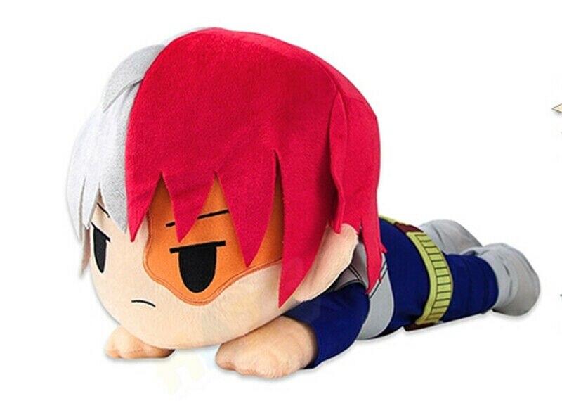 Аниме My Hero Academy Todoroki Shoto, плюшевые игрушки, кукла, мягкая плюшевая Лежащая подушка, детские куклы, игрушки, подарки, украшение для дома