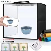 12 30cm folding lightbox portable photography led photo studio shooting tent softbox background kit mini light box dslr camera