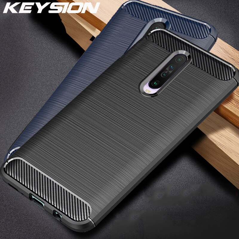 Funda a prueba de golpes KEYSION para Xiaomi Redmi K30 K20 Pro, funda de teléfono de silicona suave de fibra de carbono para Redmi K30 5G Note 8 Pro 8T 8 8A