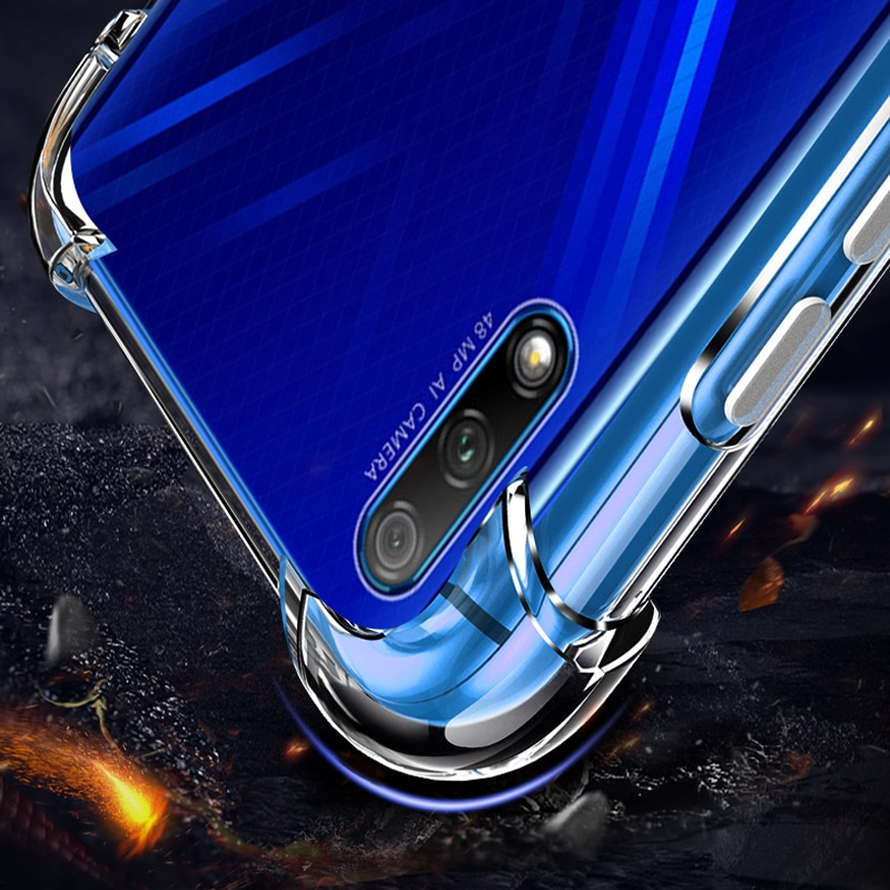 Yuetuo tpu claro telefone de volta etui, coque, capa, caso para huawei honor 9x pro 9x9 xpro silicone acessórios protetor transparente
