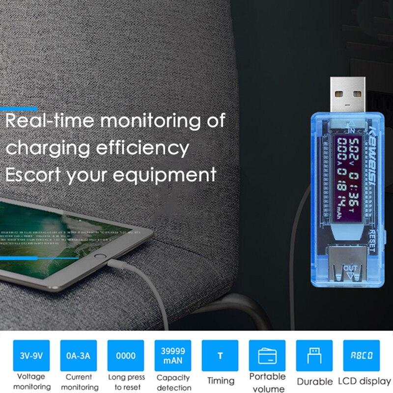USB ток напряжение емкость тестер вольт ток напряжение обнаружение зарядное устройство емкость тестер измеритель мобильный питание детектор аккумулятор тест