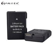 PALO 7.4V 1200mAh EN-EL14 Batteries ENEL14 EN EL14 Batterie Pour Appareil Photo Nikon D5200 D3100 D3200 D5100 P7000 P7100 MH-24