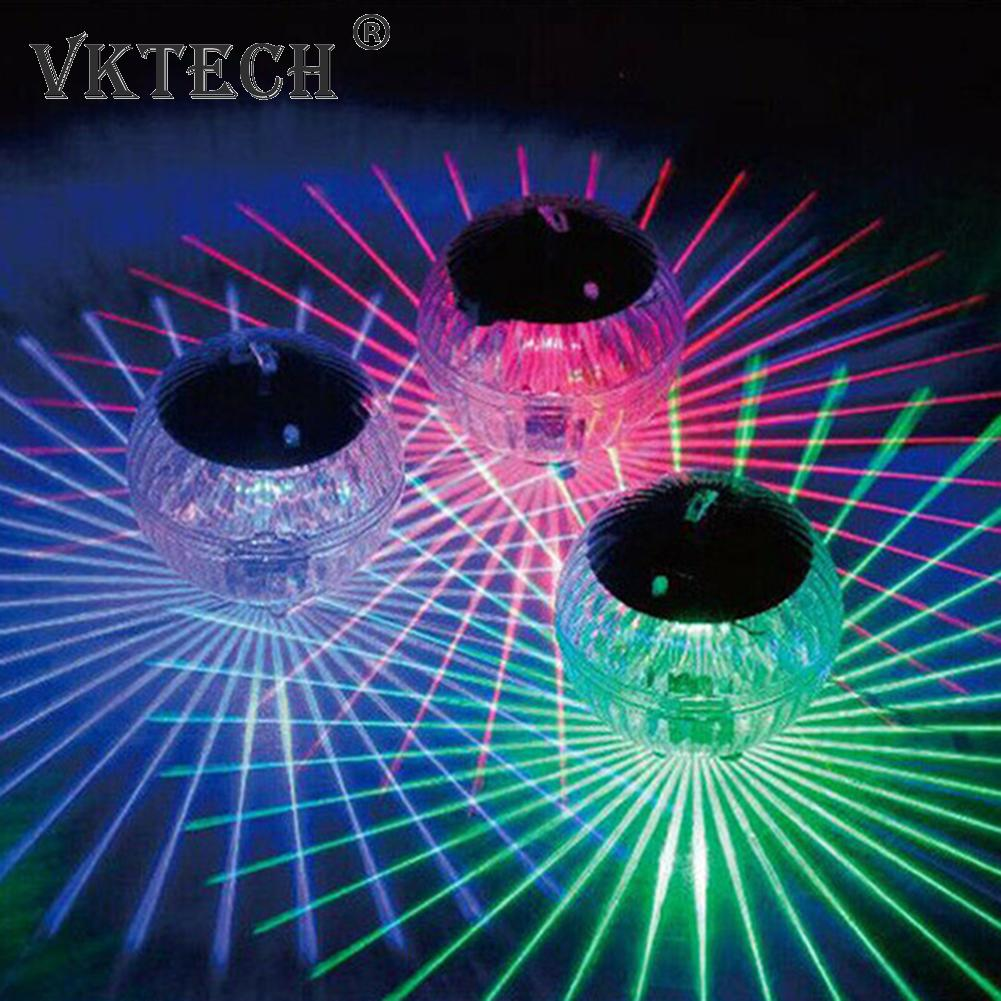 LED Solar Floating Light Pond Swimming Pool Colorful Ball Lamp Kid Bath Toy Color Changing LED Ball Lights Underwater Lamp