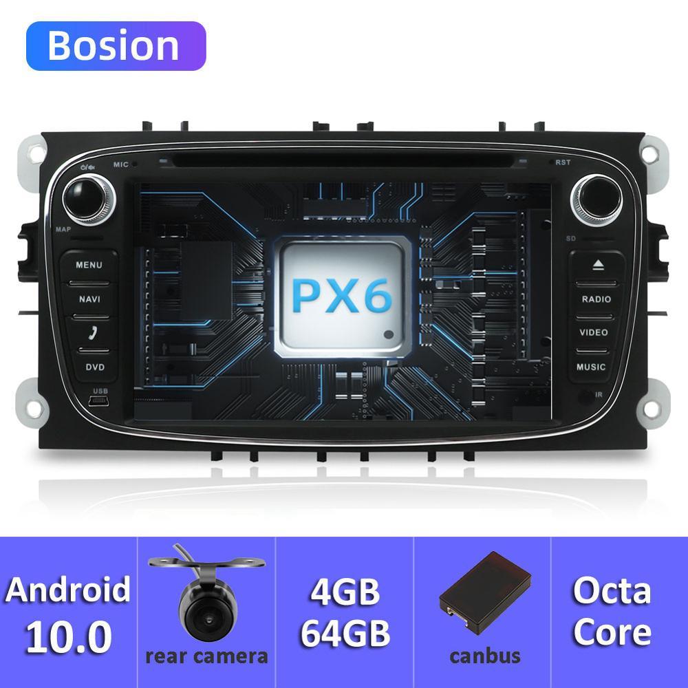 Bosion Car Multimedia player Android 10 GPS Autoradio 2 Din For FORD/Focus/Mondeo/S-MAX/C-MAX/Galaxy RAM 4GB 64GB Radio GPS DVR