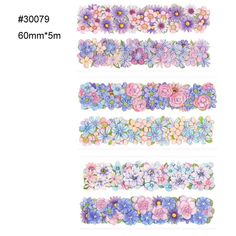 Декоративный скотч с цветочным принтом винтажная бумажная лента washi, Милая бумажная лента washi для скрапбукинга