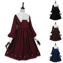 Cosplay Costume robe de bal sur mesure fête cosplaybricolage filles femmes rétro Lolita manches longues robe