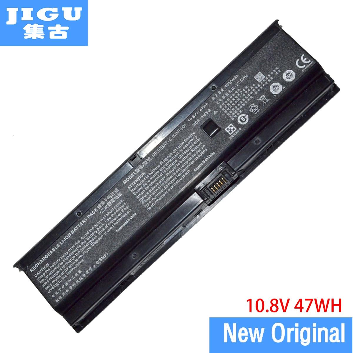 JIGU الأصلي بطارية كمبيوتر محمول NB50BAT-6 ل SHINELON HUIMIEZHE DD2 ل CLEVO NB50TJ1 NB50TL NB50TK1 10.8V 47WH