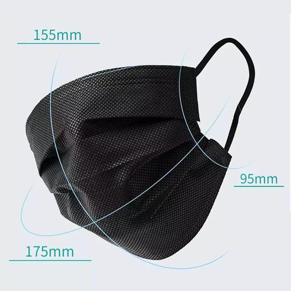 Masques noirs jetables - Lot de masques jetables noirs (50 à 600) Créer Son T Shirt