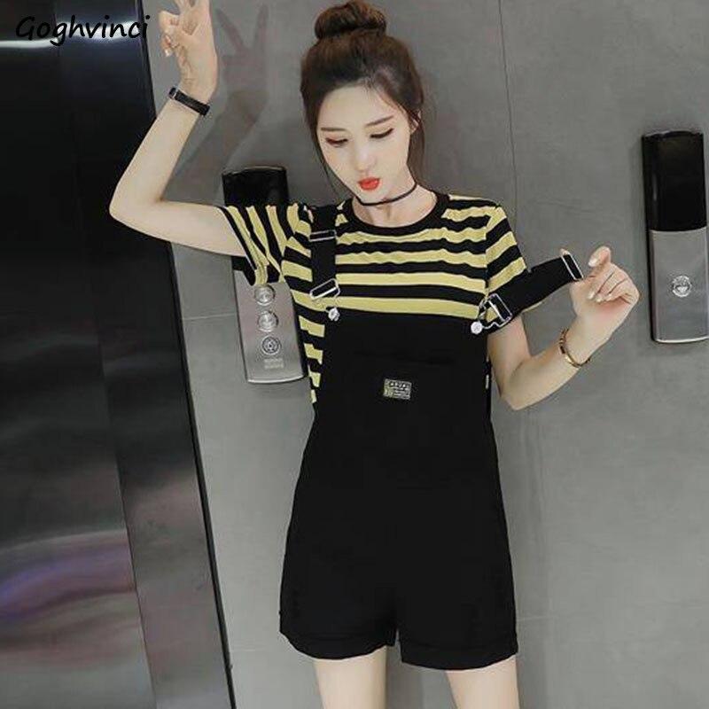 Женский комбинезон с карманами Kawaii, студенческий Универсальный корейский стиль Harajuku, Модный женский комбинезон большого размера 2XL, женский комбинезон, шикарный, новинка 2020