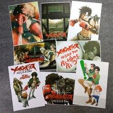 8 pièces/ensemble Anime MEGALO boîte affiche JOE JNK chien mur photos chambre autocollants jouets A3 Film affiches