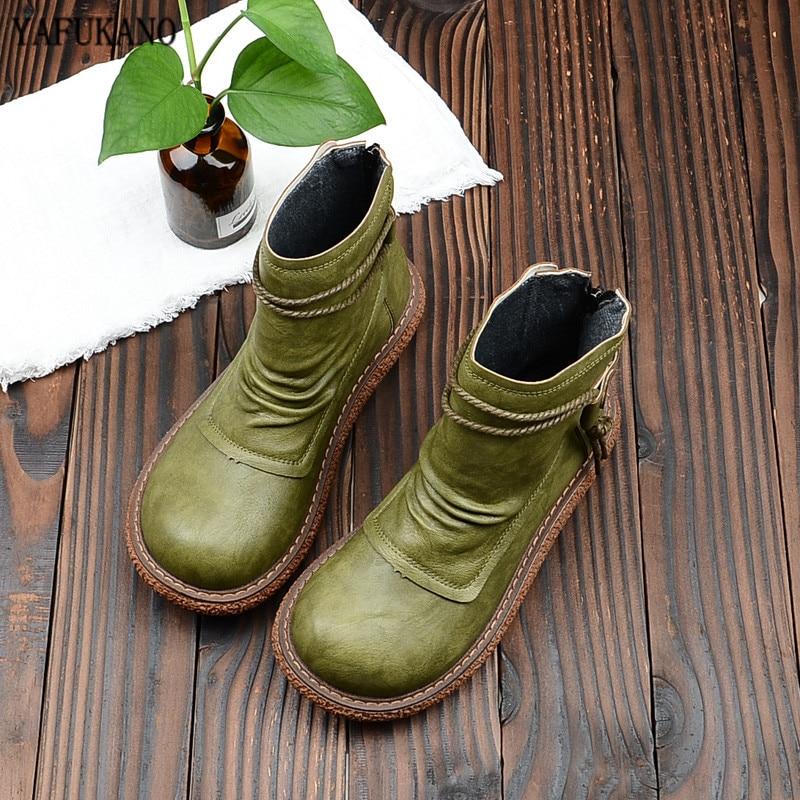 Mori-أحذية نسائية ذات رأس عتيق ، أحذية ذات نعل سميك ، على الطراز الياباني ، مريحة ، مخمل ، أحذية مارتن غير رسمية