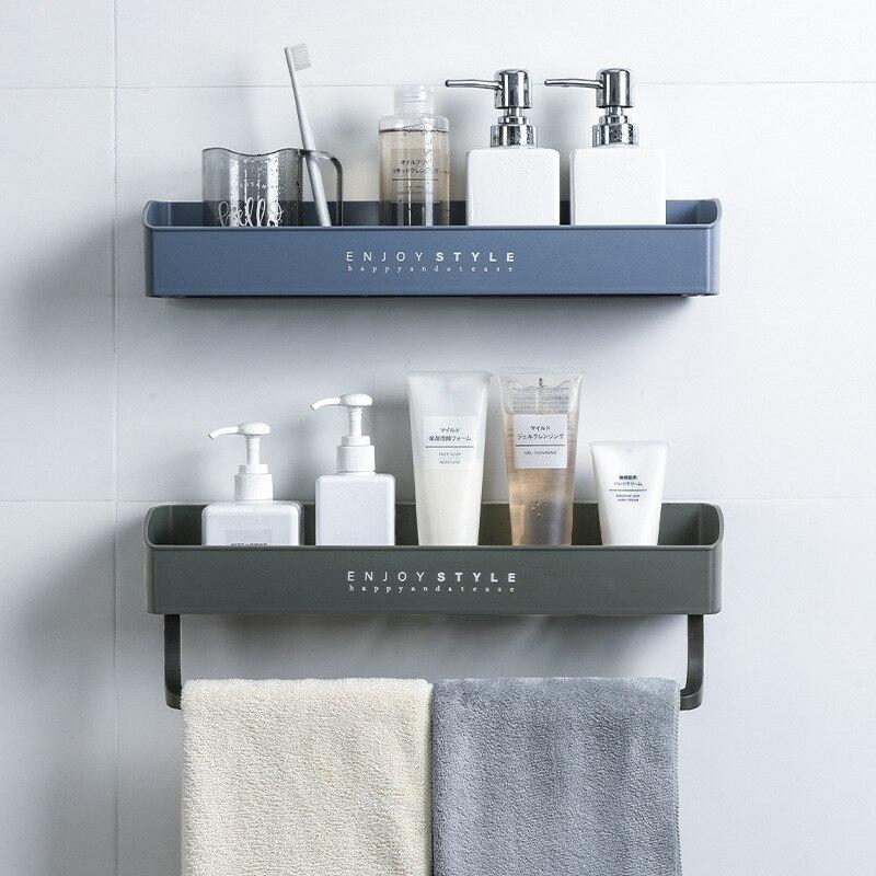 Estante de baño sin perforación de drenaje, soporte de plástico Para toallas...