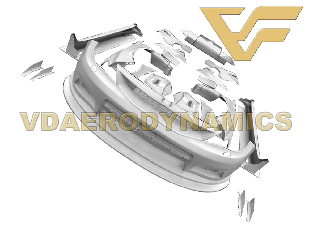 Geschikt Voor 08-11 Subaru Impreza Wrx Sti 10 Grb VAD-VRS Frp Widebody Full Body Kit
