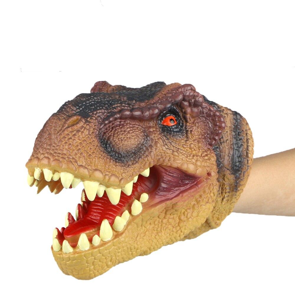 fantoches de mao animais infancia criancas legal brinquedo de borracha forma dinossauro