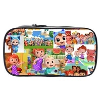 cocomelon pencil case cartoon children boys girls pen bag students stationery storage bag children wallet gift