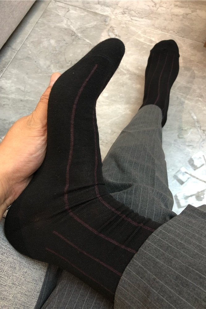 Men's Black Socks Sexy Formal Dress Socks Sexy Lingerie Mens Cotton Exotic Business Dress Socks Erotic Men's Formal Socks