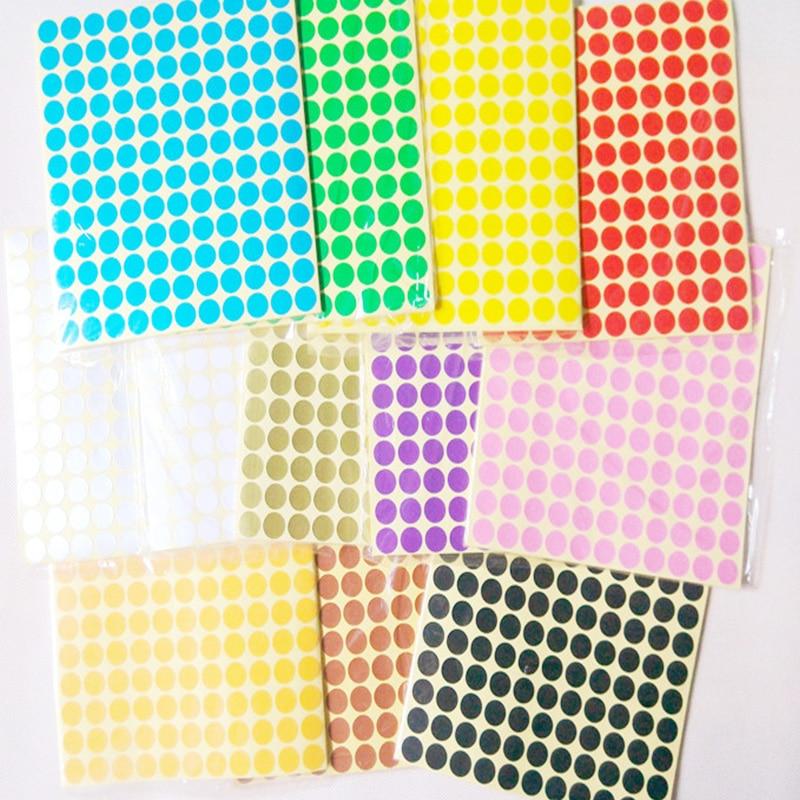 6mm/8mm/10mm/13mm/16mm/19mm/25mm/32mm pegatinas de codificación adhesivas círculo redondo puntos etiqueta colorida etiqueta circular etiqueta de papel