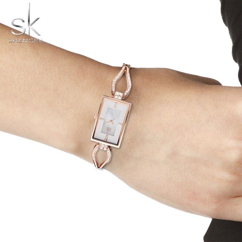 NEW Lady Watch Rectangular Luxury Gold Silver Clock Quartz Stainless Glitter Diamond Strap Band Waterproof Movement Wrist Watch enlarge