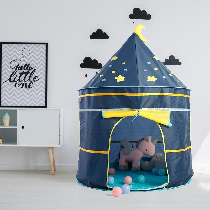Los niños tienda de campaña de juego al aire libre juegos al aire libre casa portátil Castillo de princesa bebé tienda para niña para niños juguetes de cumpleaños regalo de Navidad