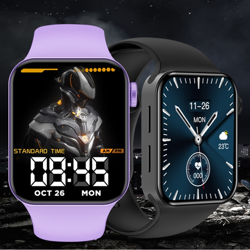 CHYCET IWO ساعة 7 Smartwatch ساعة ذكية الرجال النساء DIY بها بنفسك الوجه اللياقة البدنية تعقب ساعة ل شاومي هواوي PK DT100 IWO 13 برو 2021