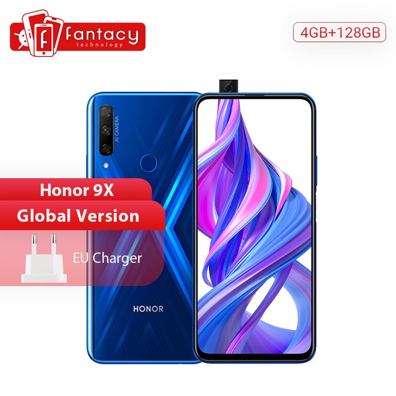"Versión Global Honor 9X Smartphone 4GB 128GB 48MP Triples Cámara 6,59 ""teléfono móvil Android 9 Google jugar 4000mAh teléfonos celulares"