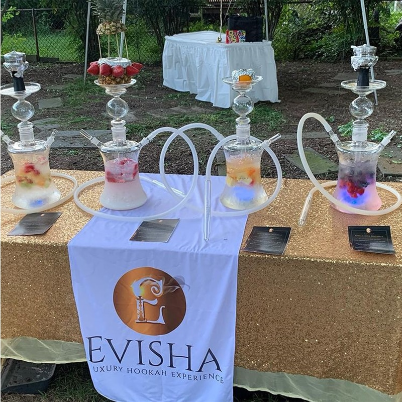 Large Glass Hookah Russian Style Complete Shisha with Led Light Funnel Tobacco Bowl Silicone Hose Chicha Narguile Accessories enlarge