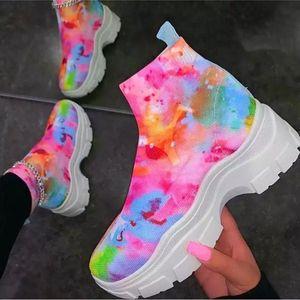 Woman Sneakers 2020 Platform Chunky Casual Shoes Ulzzang Designers Basket Female Vulcanized Shoes Women big size 43 R11-98