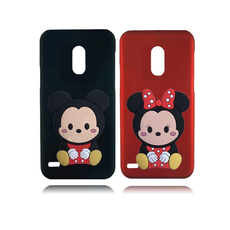 Para LG K4 K8 2017 funda de silicona Minnie 3D casos del teléfono de la piel para LG K10 2018 K9 K40 K30 V50 V40 V30 V20 G8 G7 G6 Q8 Q7 Q6