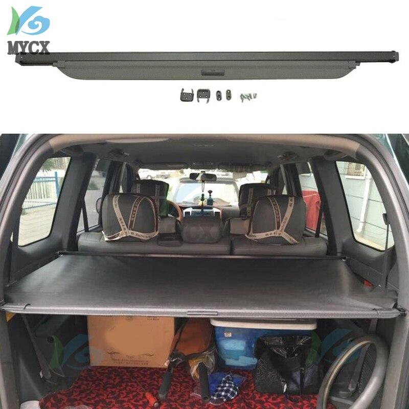 Protección de seguridad de maletero trasero de coche 2003, cubierta de carga para TOYOTA Land Cruiser PRADO FJ120 FJ 120 2003-2009, accesorios de alta calidad