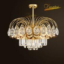Lámpara colgante nórdica de lujo de cristal LED, iluminación moderna de acero inoxidable, luces colgantes de titanio, lámpara colgante para habitación de Hotel o Loft