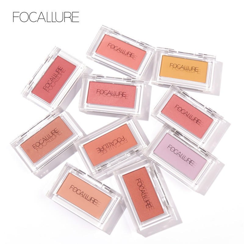 Focallure Makeup Blush With High Pigment Shimmer Matte Finish Face Blusher Makeup Long Lasting Easy To Wear Cheek Blush TSLM1 недорого