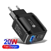 20w usb type c charger for iphone 12 pro max mini quick charge 3 0 qc pd usbc usb c fast charging travel wall charger eu plug