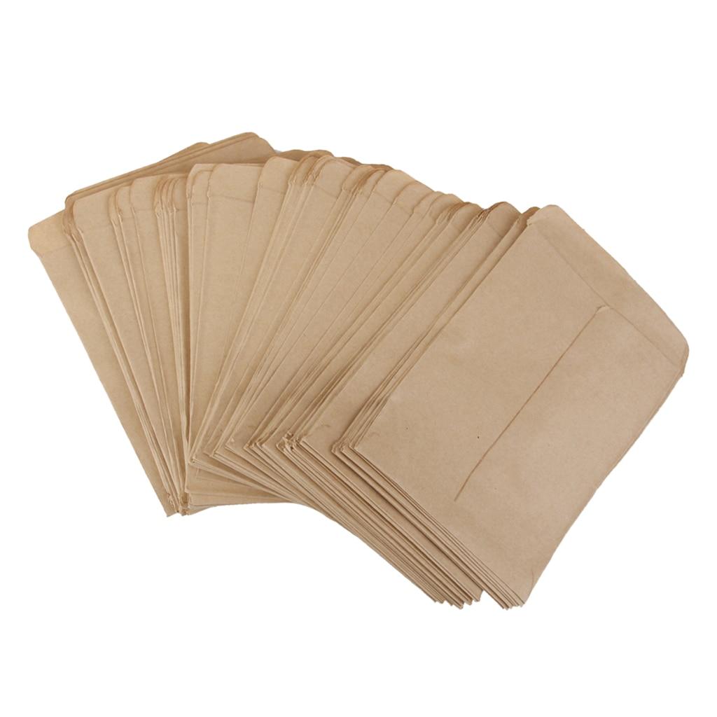 Paquete-10 bolsas de papel Kraft marrón para Buffets de caramelo, comida, mercancía