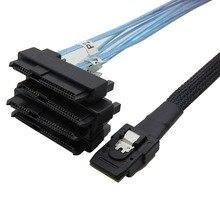 Câble sas sata interne Mini SAS 36pin SFF-8087 à 4 X SFF 8482 29pin + 15Pin connecteurs de SFF-8482 avec câble dalimentation SATA 0.5m 1m