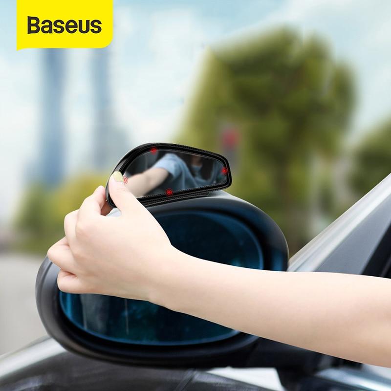 1 par de espejo retrovisor auxiliar para coche de Baseus, espejo retrovisor convexo HD de gran angular