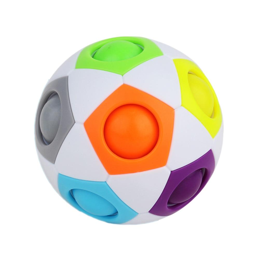 Regenboog Jigsaw Bal 12 Gat Regenboog Bal Hoge Elasticiteit Fall Slip Kinderen Puzzel Leren Regenboog Bal Speelgoed Gift