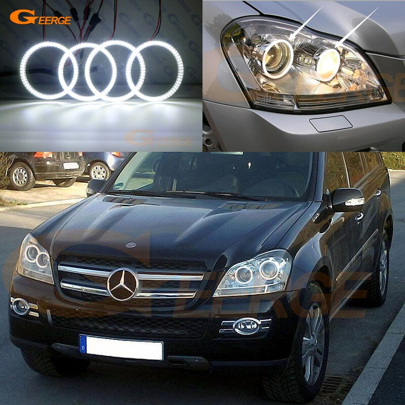 Para Mercedes Benz clase GL X164 GL350 GL420 GL450 GL500 GL550 excelente smd Ultra brillante kit de luces led Ojos de Ángel DRL