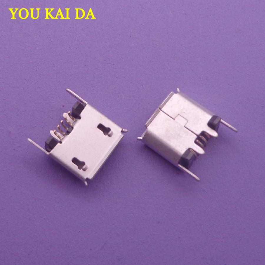100 قطعة مايكرو USB صغير مقبس متفرع محطة منفذ شحن ل ZX80-B-5P المصغّر USB B نوع عمودي SMT 5P موصل
